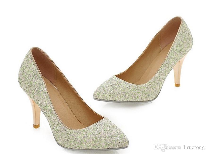 Invia Hot 2016 nuovo stile inverno coreano principessa scarpe da sposa spose femminili scarpe singole tacchi alti e scarpe tacchi sottili tacco 5cm, 8cm