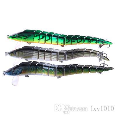 الجملة 100 أجزاء متعددة القسم الصيد الطعم 9.05 / 1.62 أوقية الشريط الصيد البحري صوتها السحر مع 3 التريبل خطاف لعبة كبيرة الصيد السحر