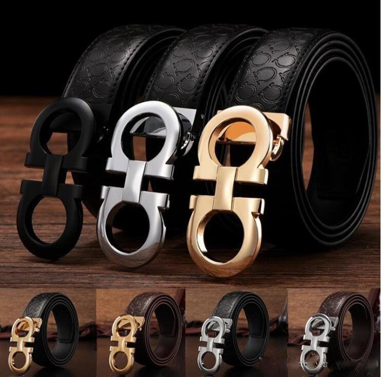 2018 Cinturones de lujo calientes cinturones de diseño para hombres cinturón de hebilla cinturones de castidad masculina moda superior para hombre cinturón de cuero al por mayor dropshipping
