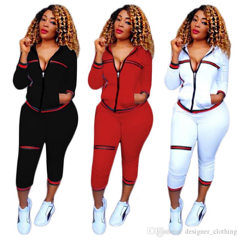 Eğlence spor takım elbise standart kod Avrupa ve Amerikan moda takım elbise moda dokuma ipliği koşu spor Koşu Giyim