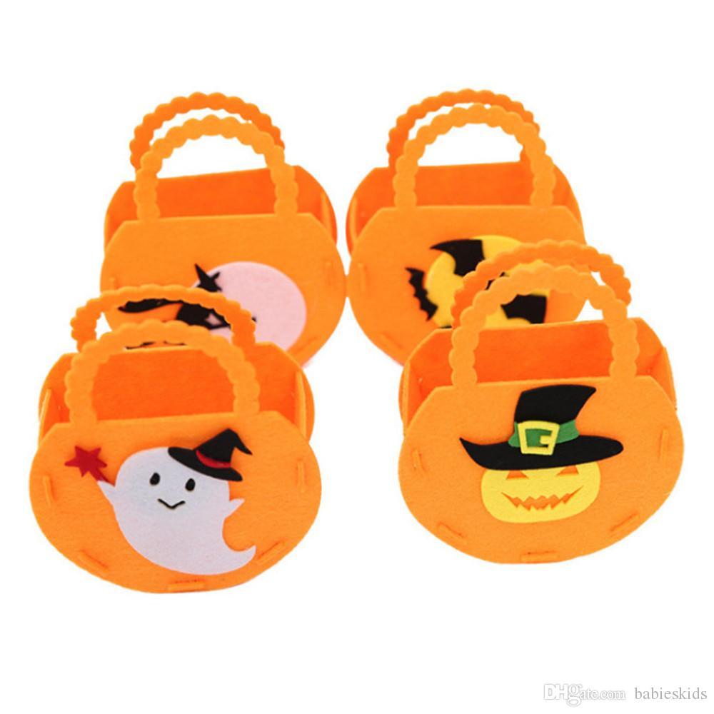 Sacchetto di mano di zucca Decorazioni per le feste di Halloween Sacchetto di caramelle Sacchetti di caramelle Regali di Halloween borsa Zucca Halloween Supplies