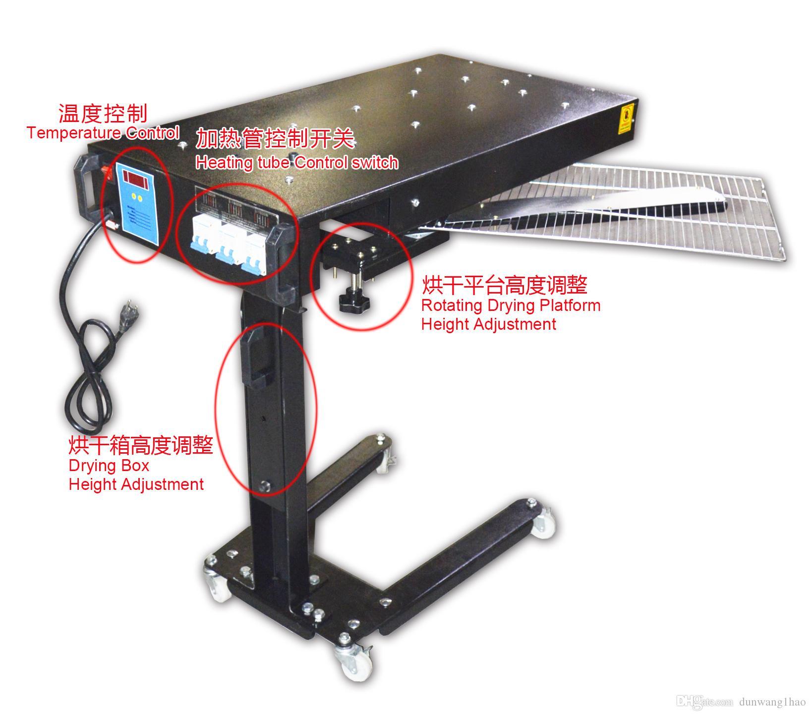 Tipo de piso Secador Flash Móvel Secador de Altura Ajustável Flash Silkscreen Novo transporte para o mundo popular operar de forma simples venda quente