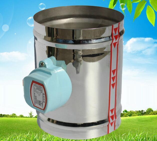 Válvula de válvula de aire eléctrica de acero inoxidable de 100MM, 220V AC, aire comprimido, tipo hermético, 4
