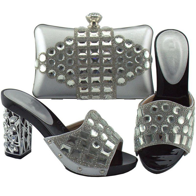 새로운 패션 이태리 신발 및 가방은 신발 세트와 신발을 일치 럭셔리 신발 여성 디자이너 하이힐은 우아한 펌프에 미끄러 져