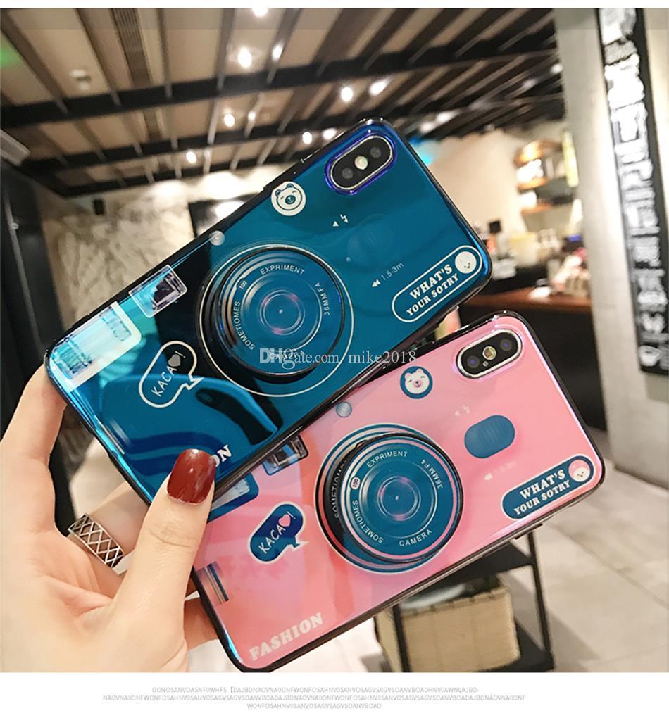 Ретро чехол для камеры для Huawei P20 Lite Nova 3e Case мода 3D ручка стенд держатель силиконовый чехол для телефона Huawei P9 P10 P20 Pro
