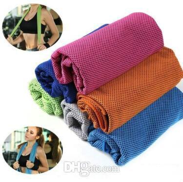 colori all'ingrosso 30 * 90 cm asciugamano freddo ghiaccio freddo corsa jogging palestra freddo pad di raffreddamento istantaneo sport all'aria aperta asciugamano pacchetto opp cca9493 300 pz