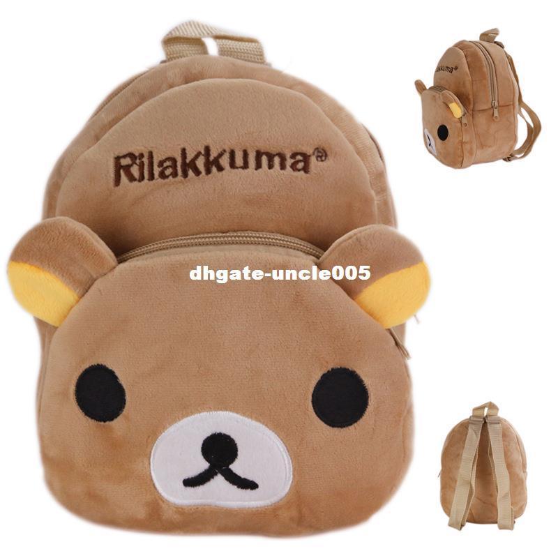 새 Kawaii Rilakkuma 플러시 백팩 소년 소녀 학교 가방 봉제 완구 어린이 학교 가방에 대한 박제