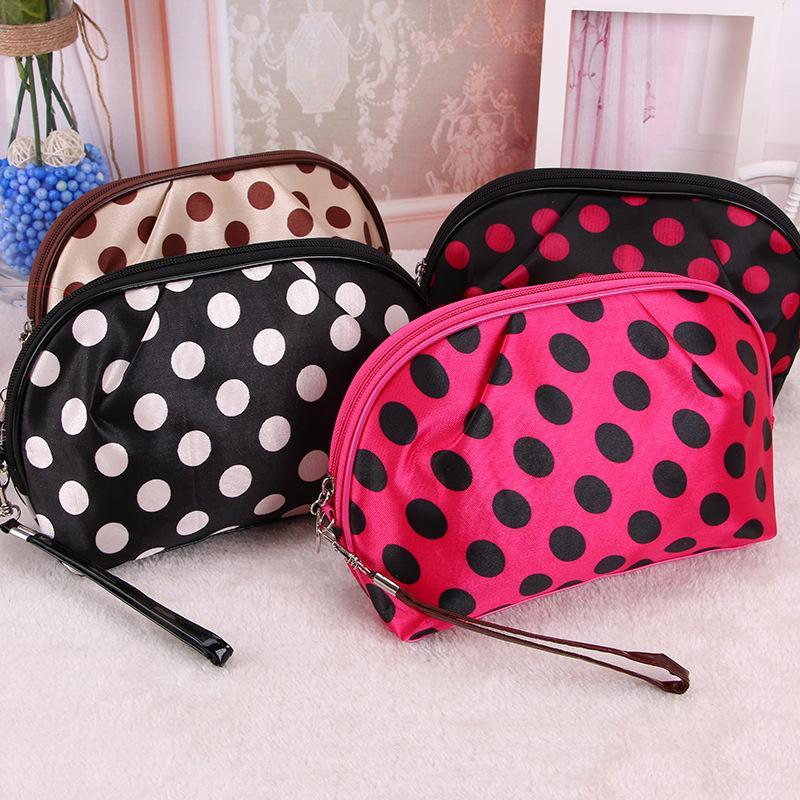4 colores de moda puntea la cosmética bolsa con cremallera de Tocador Kits Wash Bolsas de maquillaje bolsa de almacenamiento Organizador Fabricantes mayorista