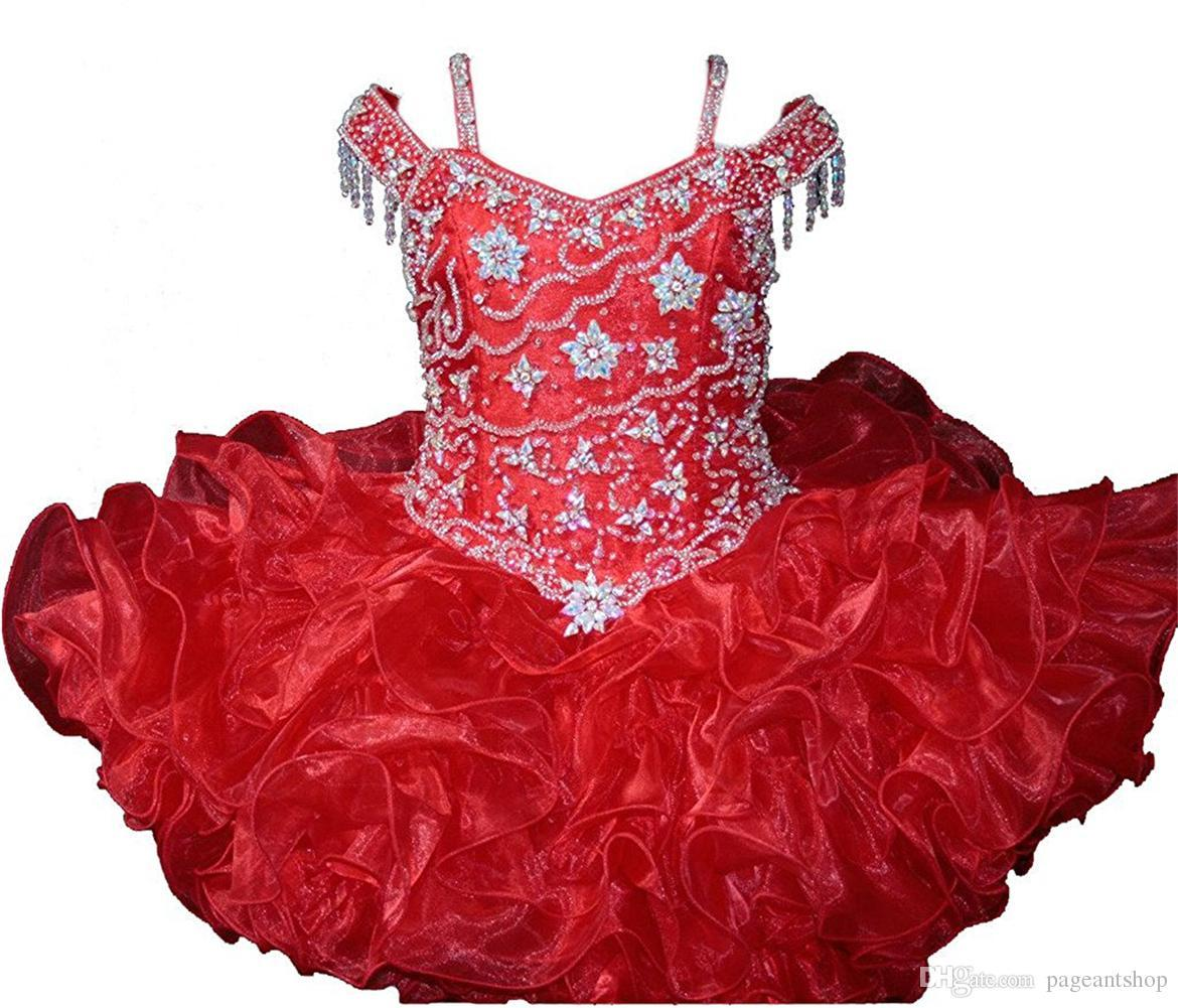 Baby Girls Pageant Cupcake Dresses Infant Special Occasion Skirts Toddler Tutu Birthday Prom Party Short Pageant Gowns