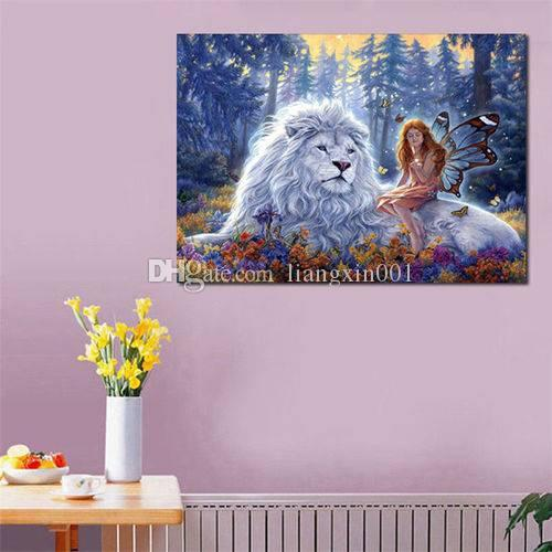 5D DIY Animal Diamond Painting Embroidery Cross Stitch Craft Wall Home Decor
