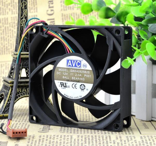 Orijinal AVC 9025 DC12V DASA0925B2S-P001 2.0A 9 CM 90 * 90 * 25 MM 4 tel büyük rüzgar ısı yayıcı fan