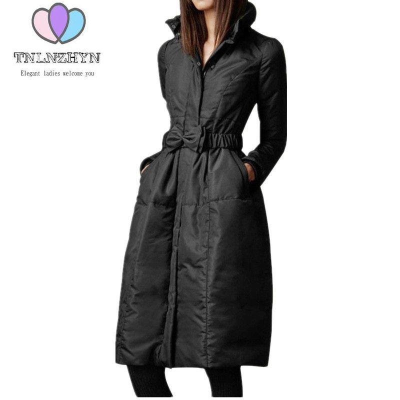 2018 New Fashion High End Womens Winter Jacket Coats Plus Size Warm Down Jacket  Thicken Long Cotton Costume Ms Outerwear Parka S18101503 UK 2019 From ... 0bc6482f0