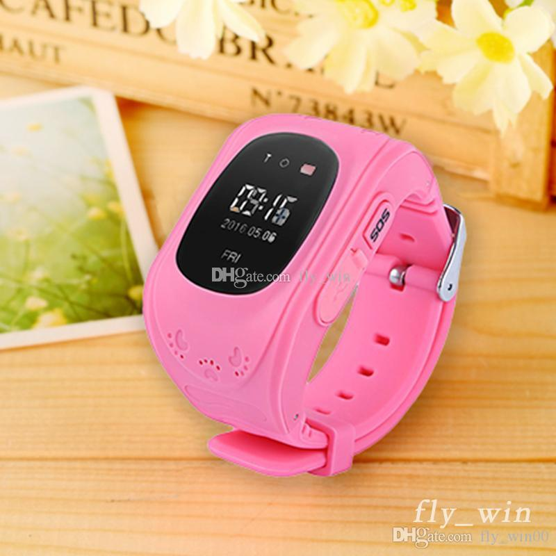 Q50 Children Smart Watch Kids Wrist Watch with Anti-lost GPS Tracker SOS Call Location Finder Pedometer Functions Parent By Smartphones