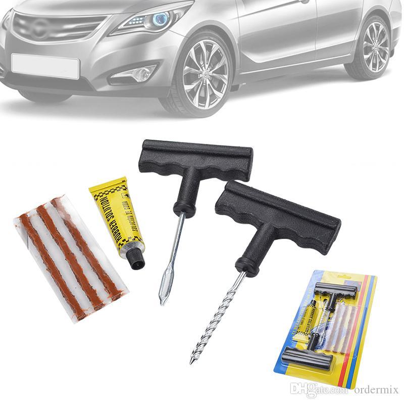 1 Set di strumenti per la riparazione più veloce Kit per auto Tubeless Pneumatico per pneumatici Spillo per puntura Accessori per auto Accessori per moto Biciclette portatili