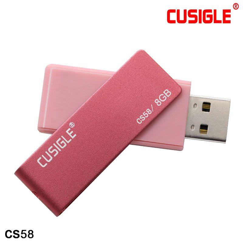 16GB 32GB 64GB 128GB 256GB Cusugle CS58 회전 2.0 USB 플래시 드라이브 펜 메모리 U 디스크 패키지