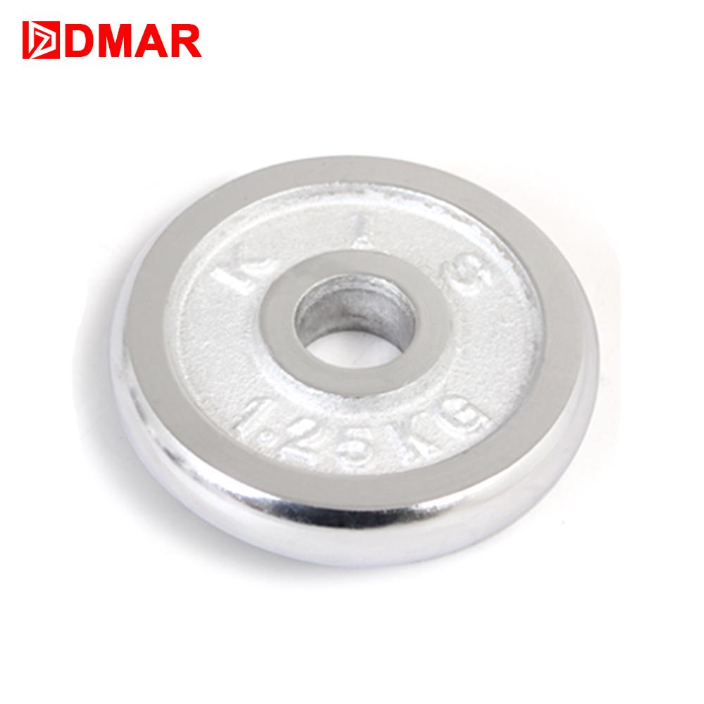 DMAR1pc 1.25 Dumbbells Disk Weights for Fitness Weightlifting Crossfit Equipment Barbell Gym Muscle Strength ExerciseBarbell