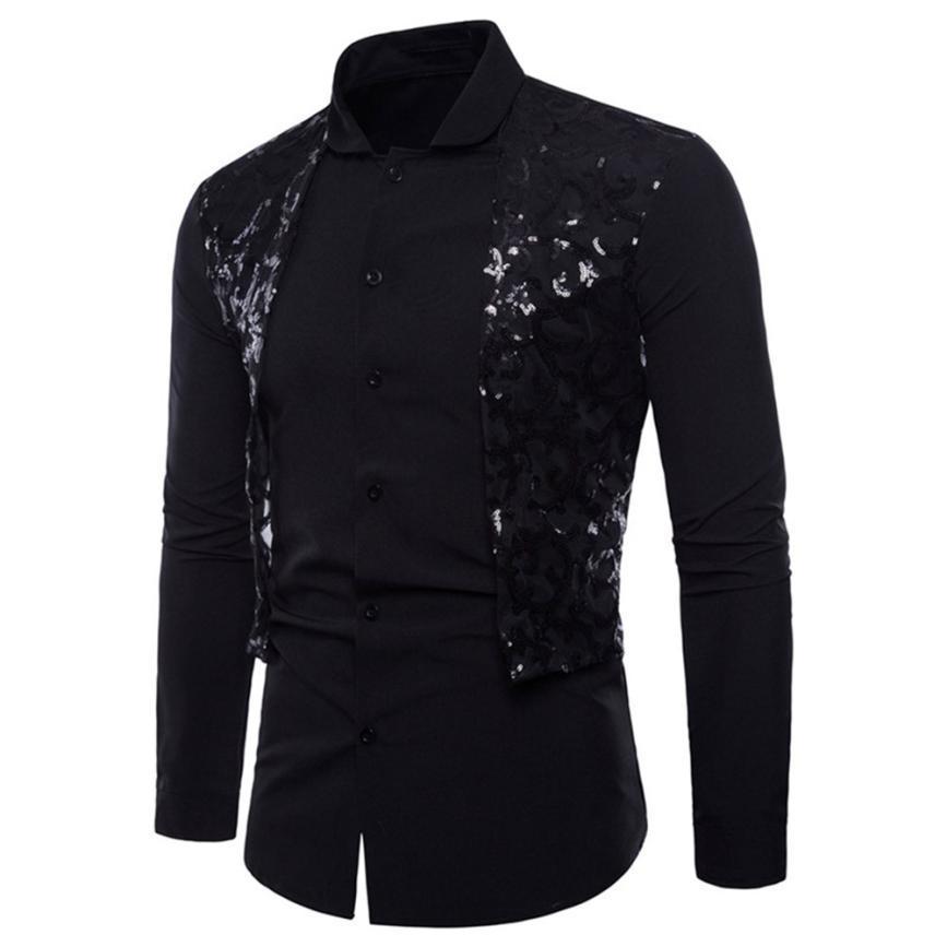 2018 NUEVOS hombres de moda de verano camisa de vestir Casual para hombre de manga larga Oxford formal trajes casuales Slim Fit Tee Camisas de vestir blusa Top