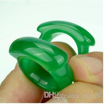 Природный нефрит зеленый седло кольцо Оптовая Малайский нефрит мужской и женский палец Оптовая нефрит кольцо