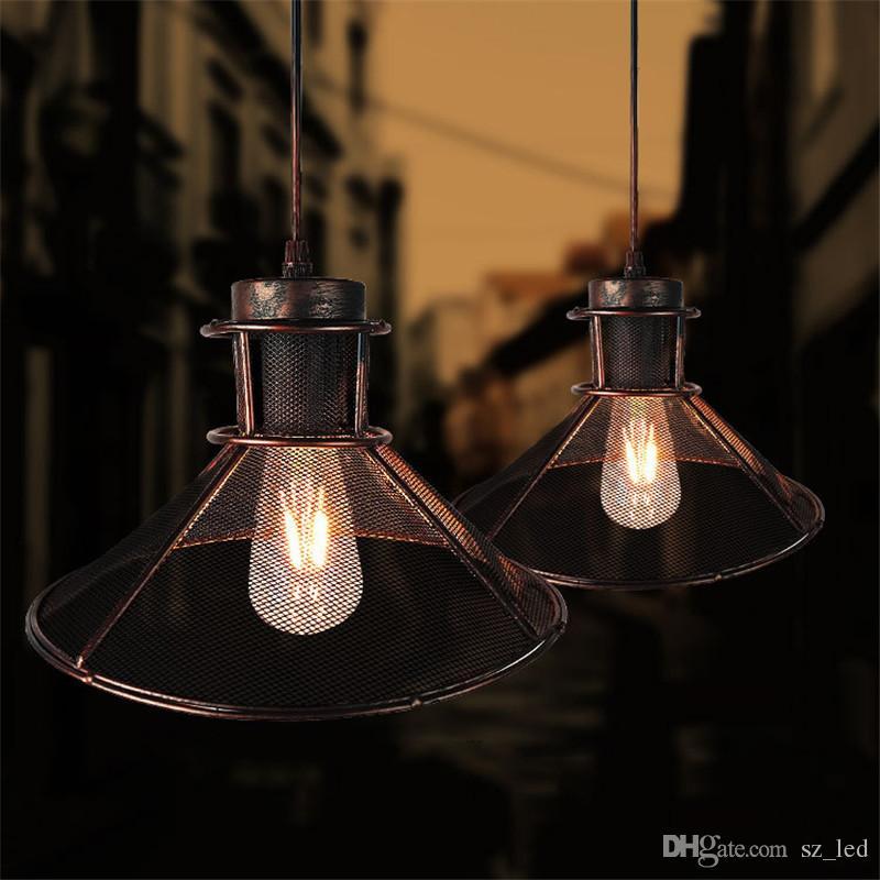 Vintage Wisiorek Przemysłowy Lekki Retro Lampa Sufitowa Nordic Iron Lampshade Loft Edison Lampa do jadalni Restaurant Bar