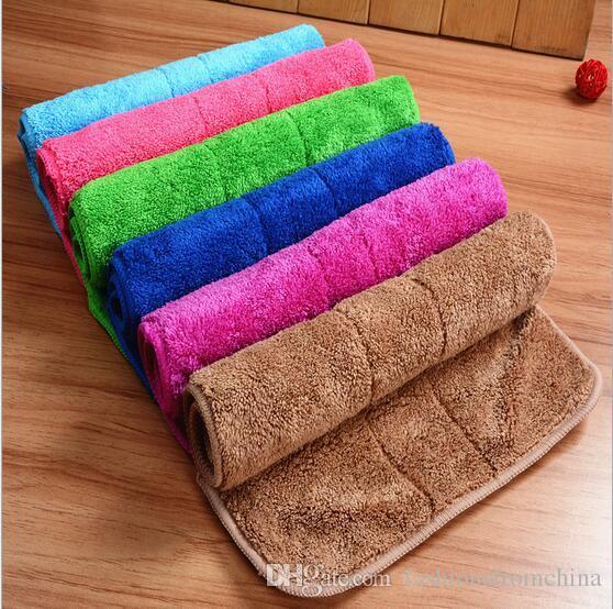 1USD / PC Freies Shiping Reinigungshandtuchwaschentuch Polieren Trocknungstücher