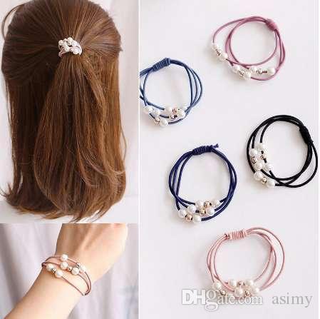1 pcs Style Coréen Femmes Bande De Cheveux Coloré Mignon Élastique Élastiques Bandes De Cheveux De Fille Corde De Queue De Cheval Titulaire Cravate Gommes Accessoires Cheveux