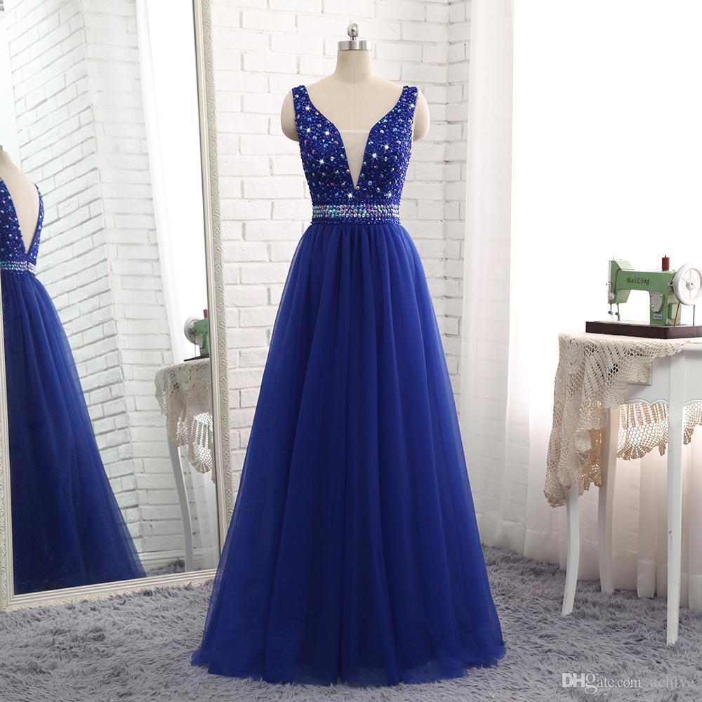 abschlussball kleid blau