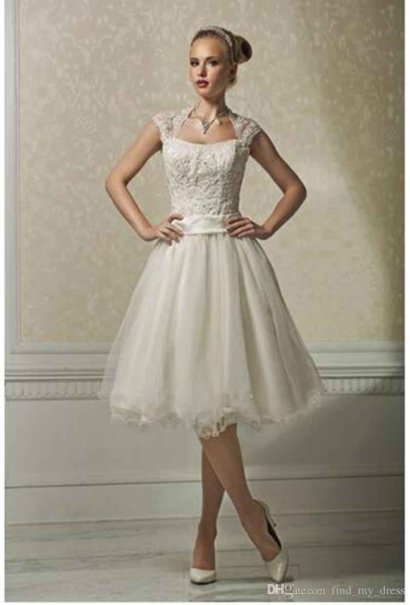 Vintage Knee Length Wedding Dresses