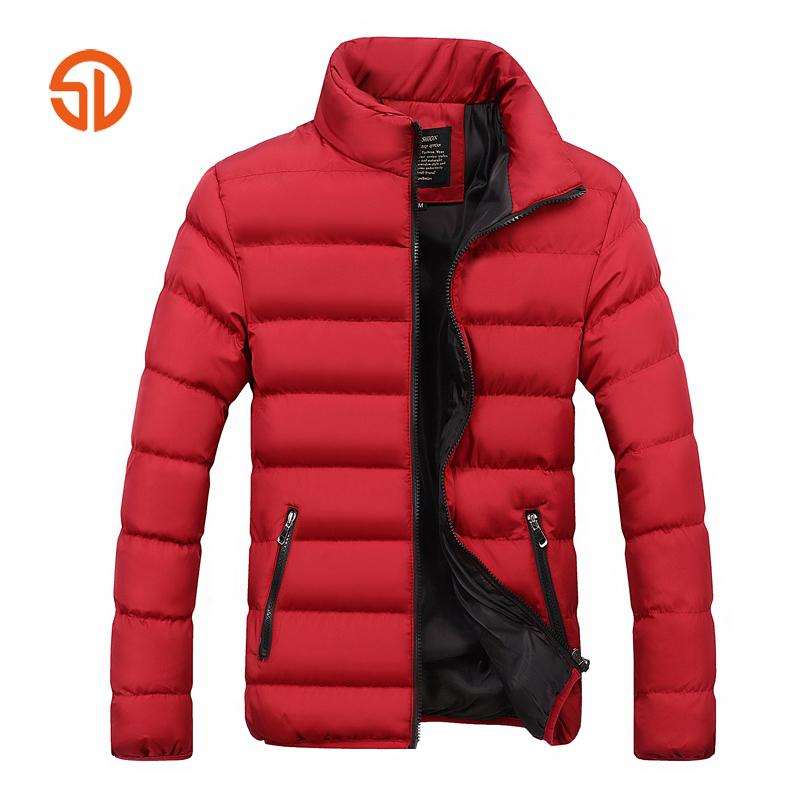 Fashion Men Autumn Winter Jackets Mens Plus Size XXXXL Casual Male Parka Jacket Coat Black Blue Red 6 Colors M-4XL