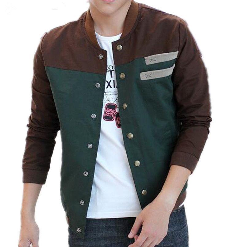 Новая осень корейский мужская куртка культивировать свою мораль короткий параграф соответствия цвета воротник куртки мужской бейсбол равномерное м-5XL D18100902