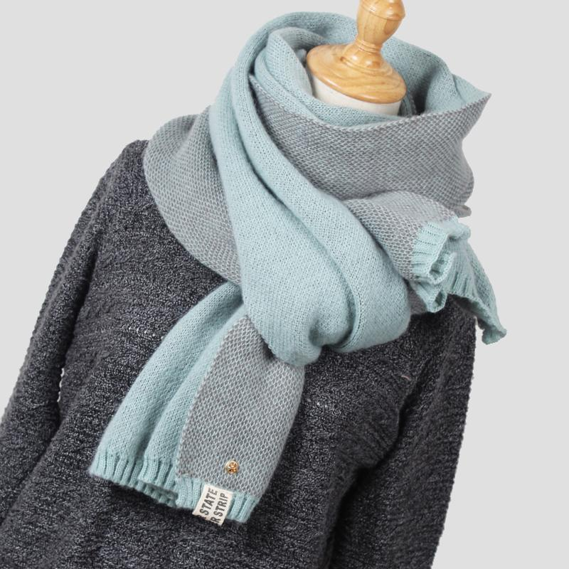 New arrival Women Fashion Winter Scarf Wool Knitted Scarves Shawls Women Thick Warmer Cowl Neck Winter Pineapple Scarfs Stoles S18101307