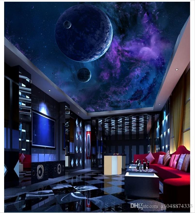 3d wallpaper benutzerdefinierte foto 3d decke mural tapete Dream Star Sky Planet Decke Wandbild wand wohnzimmer wandmalereien tapete wohnkultur