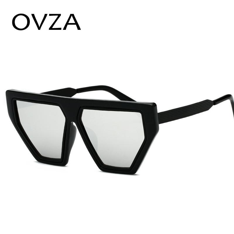 OVZA Unregelmäßigen Stil Transparente Sonnenbrille Herrenmode Damen Mirro Sunglass UV400 Gradient Lens S6068