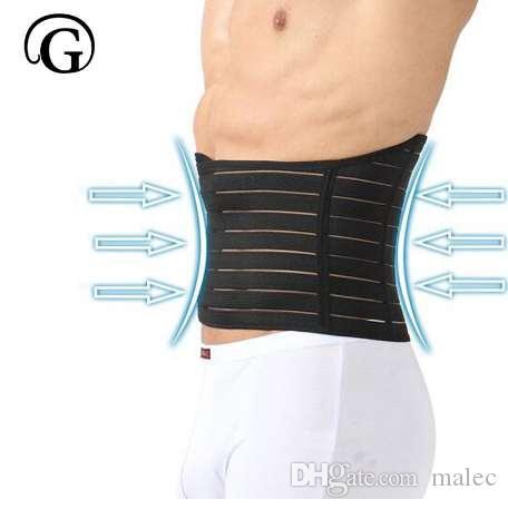 PRAYGER Man Magic Body Shaper Ropa interior Cintura banda Tummy Slim Cintura del vientre Cincher Black Cintura entrenador Corset Slimming Belt