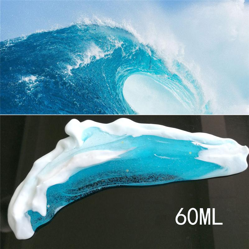 Squishy Toys Kids Fidget Spinner Sea Wave Style Fluffy Slime Light Clay Modeling Polymer Clay Sand No Borax Antistress Plasticine Toy 60ml
