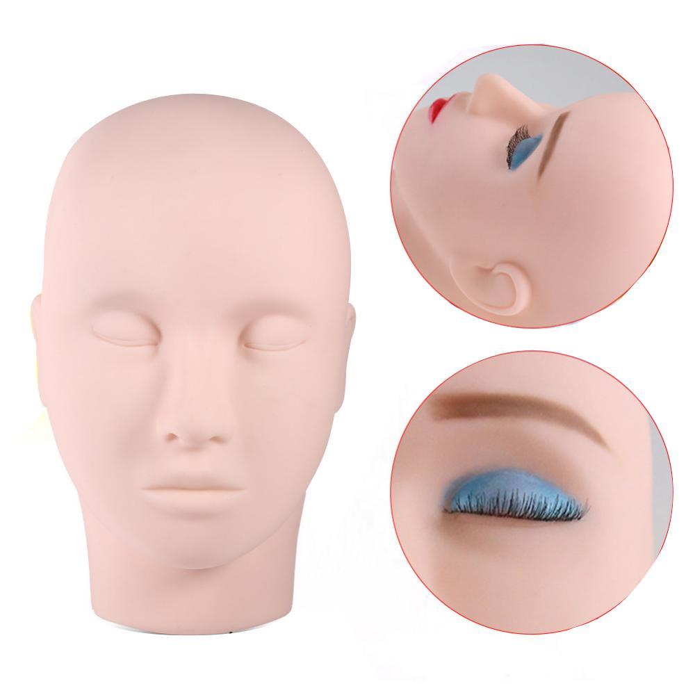 الشحن مجانا 3D سيليكون رئيس الوشم ممارسة ممارسة نموذج الرأس وهمية واجهات لممارسة الدائم ماكياج