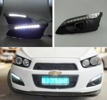 Exterior Front Bumper Bar Foglight Cover DRL & LED