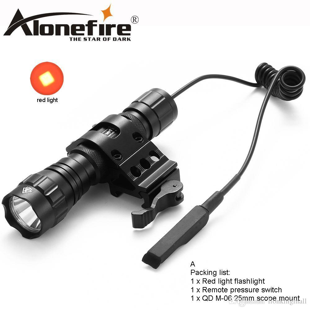 AloneFire 501Bs LED tactical flashlight Red flashing portable camping hunting flash for 1x 18650 rechargeable batteries