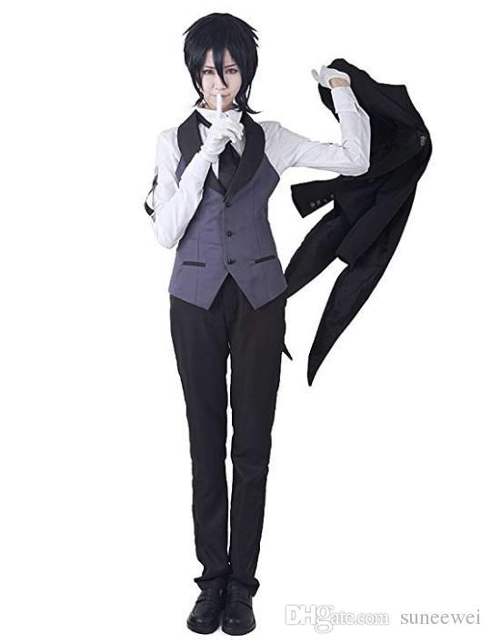Black Butler Kuroshitsuji Sebastian Cosplay costume tailcoat