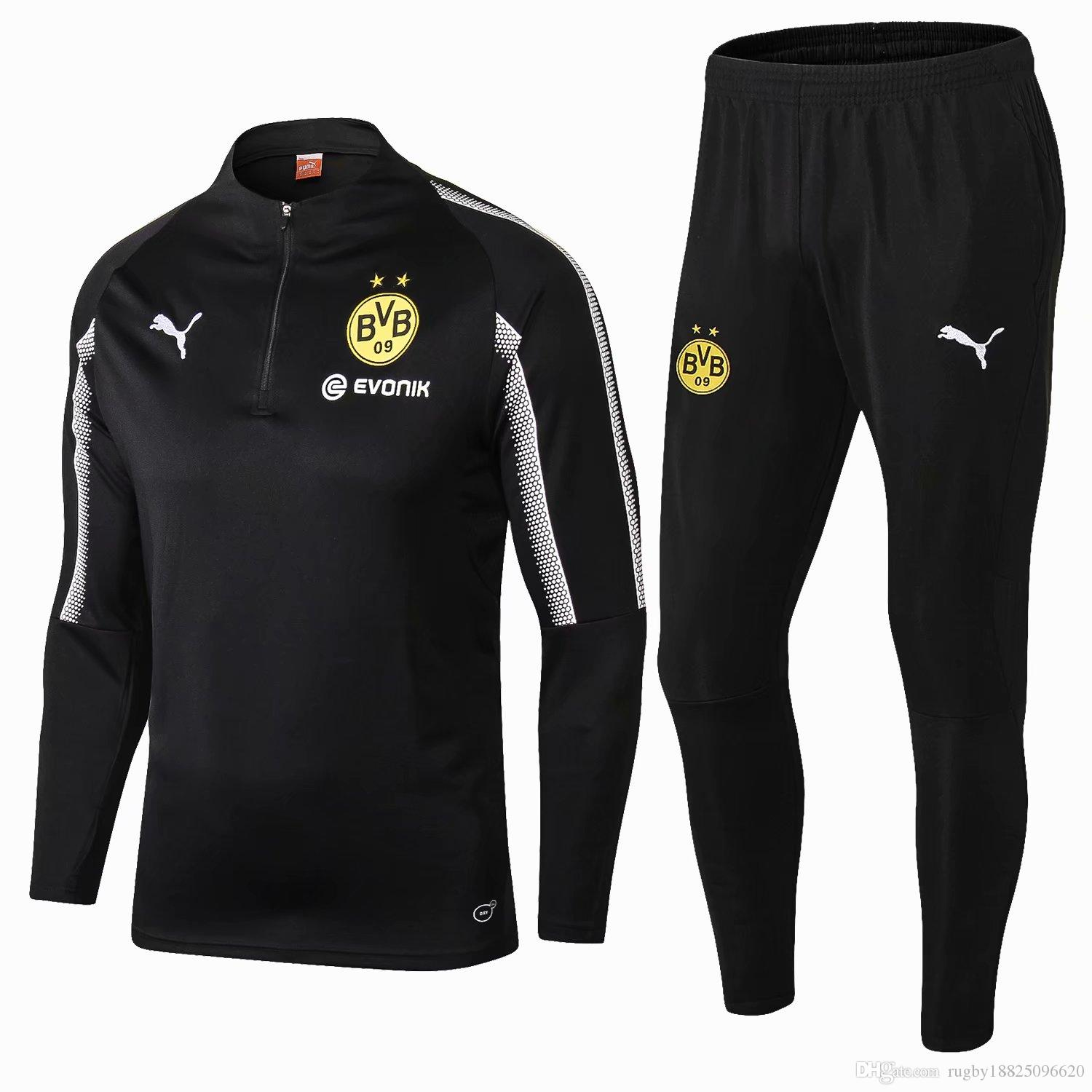 huge discount c7ae4 95a72 2018 Best Selling New 18 19 Season Dortmund Jerseys Training Suit 2018 2019  Home Away Tracksuits Soccer Jerseys REUS Training Suit Size S XL From ...