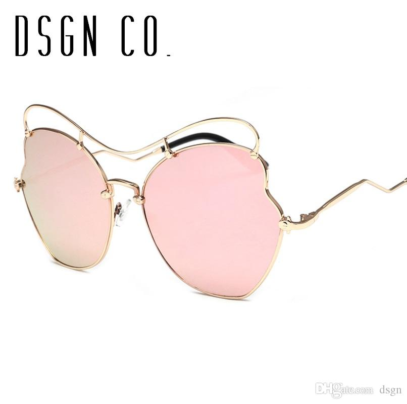 DSGN CO. 2018 Mais recente óculos de sol para as mulheres borboleta Sun Glasses Moda Sunglass 6 cores UV400