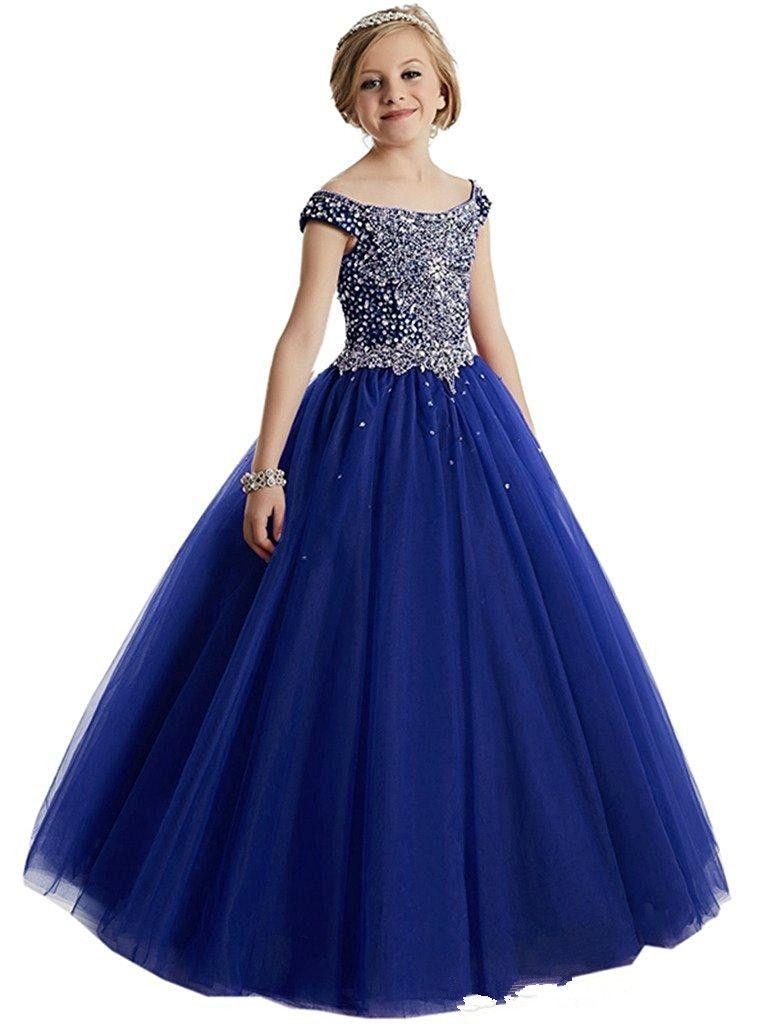 Compre Glitz Kids Pageant Vestido De Fiesta Para Niñas Concurso Para Chicas Trajes Vestidos Largos Para Las Niñas 8 10 12 Vestido Coral Flower Girl A