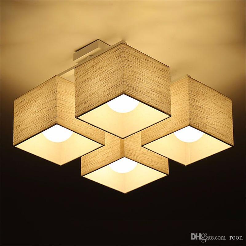 패브릭 아트 헝겊 천장 조명 노르딕 LED 천장 조명 현대 거실 램프 침실 주방 조명, 지원 에이전트 드롭 배송