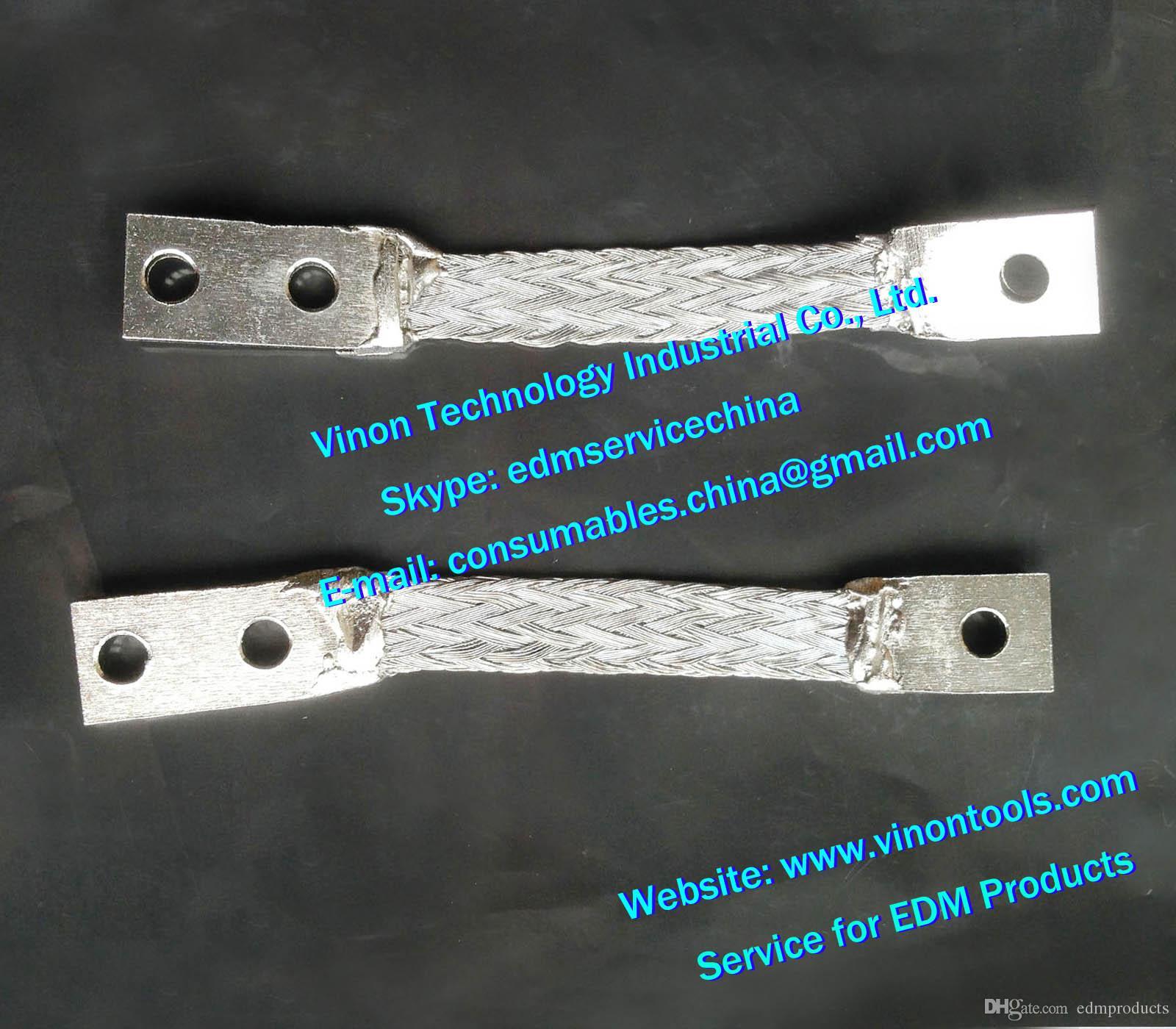 (2 adet) 100446736 edm Toprak kablosu kontak fırçası C301 L = 71mm, Alt Kontak Mesh 100.446.736, 446.736, 24.54.110 ROBOFIL 190,290,300 için