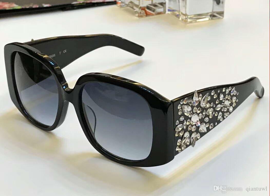Luxury Designer Black Crystal Stones Sunglasses 4398 Women Fashion Eyewear Glasses Designer Grey Glasses Shades New In Box Electric Sunglasses Fastrack Sunglasses From Qiantuwl 88 61 Dhgate Com
