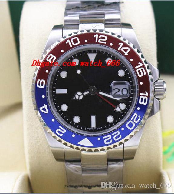 Montres de luxe de haute qualité II 116719 Lunette en céramique en or blanc 18K rouge noir / rouge bleu NOUVELLE montre homme automatique