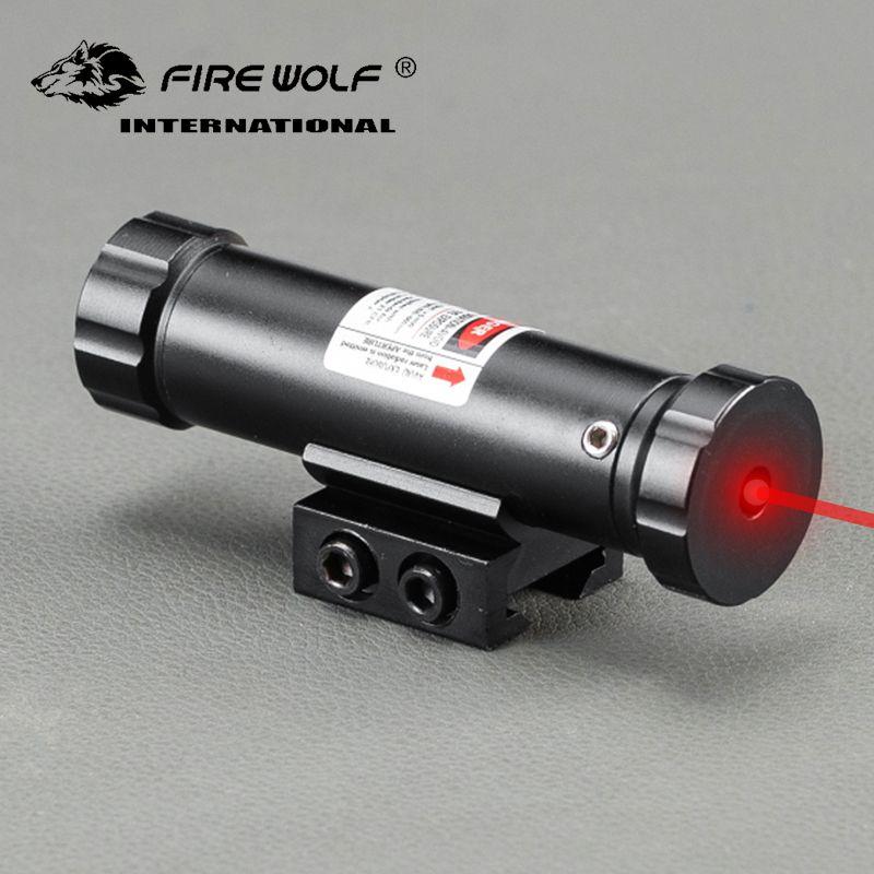 전술 사냥 레이저 범위 11mm / 20mm 레일 용 적색 시력 적합, 총 소총 용 2 스위치 장착