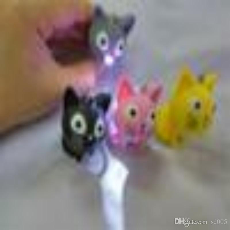 Women Men Cheese Cat LED Key Buckle Sounding Luminous Small Portable Exquisite Pendant Keychain Fit Bag Mobile 2 78yk ff