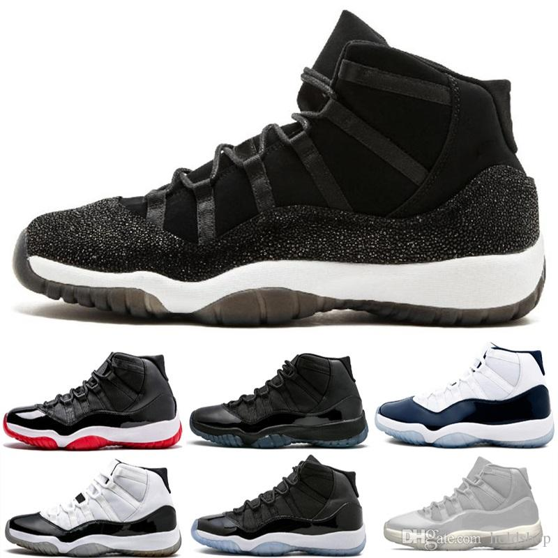 Cap and Gown 11 Men Prom Night Platinum Tint Gym Red Bred PRM Heiress Navy Gum Women 11S XI Basketball Shoes Cool Grey Sports Sneakers