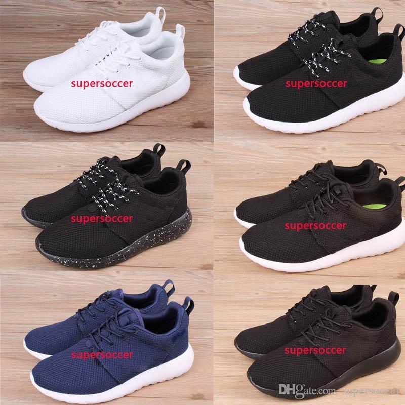 Frete Grátis Barato Run Running Shoes Mulheres e Homens preto branco Runings Runing Shoe Athletic Tênis Ao Ar Livre um Tamanho 36-45