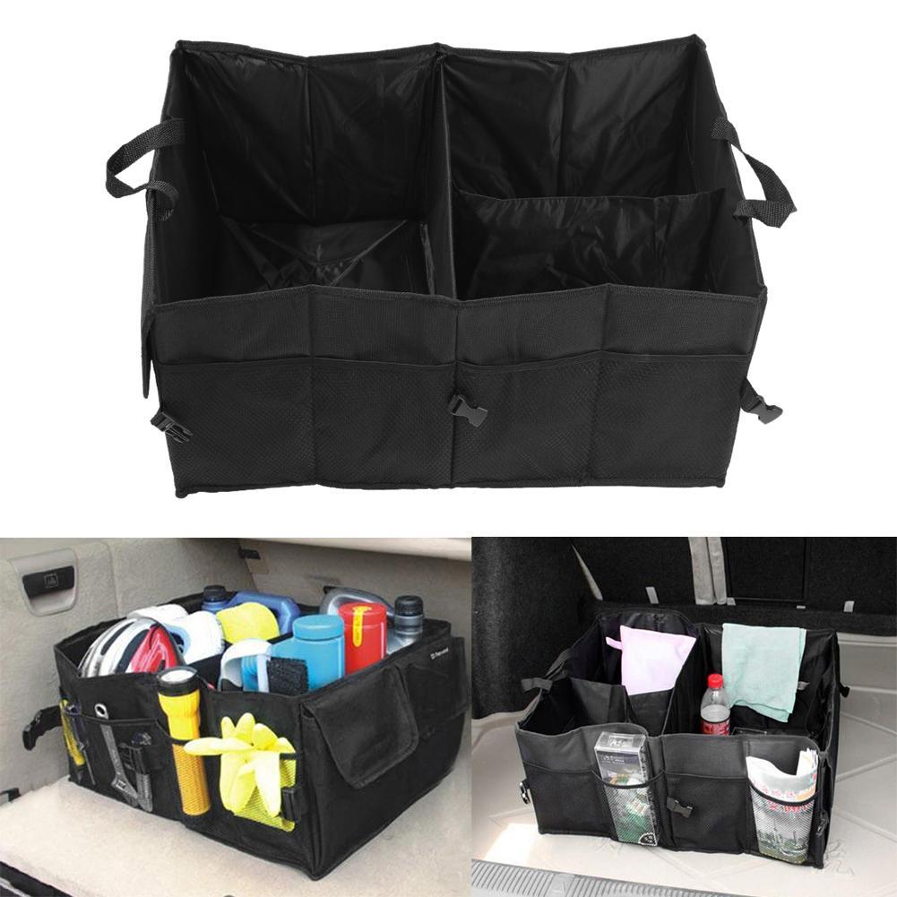 Black Folding Car Storage Boxes Travel Trunk Glove Bag Organizer Tools Toys Storage Holder Bin Cubes Bag Car Styling Container
